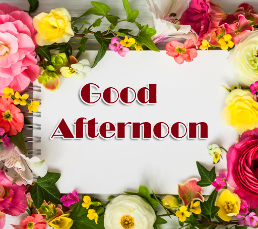Flowers Good Afternoon Card Image