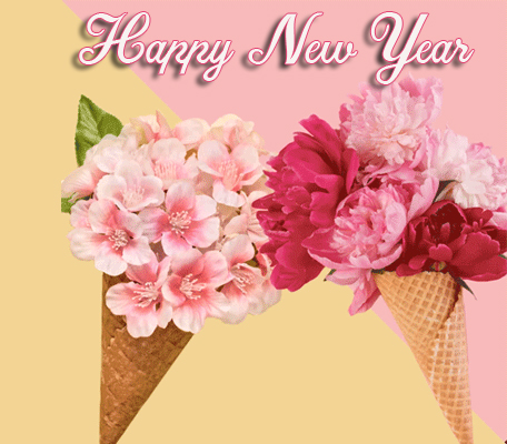 Flowers Happy New Year Image