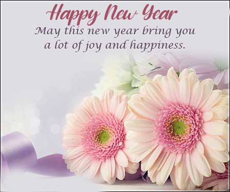 Flowers Happy New Year Picture and Pic