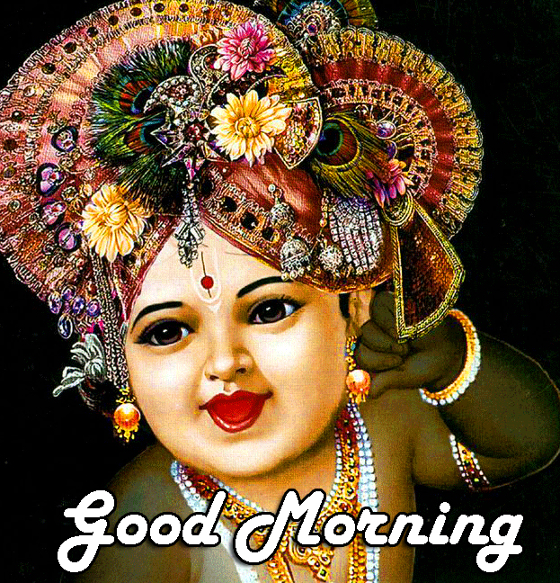 Full HD Bal Krishna Good Morning Image