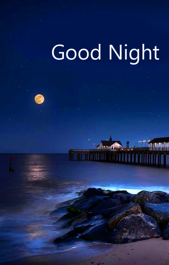 Full HD Good Night Wish with Night Scenery