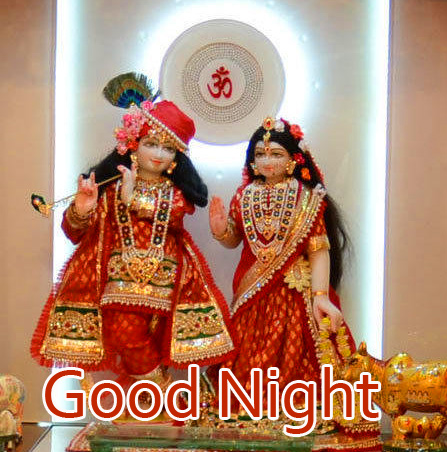 Full HD Radha and Krishna Good Night Pic