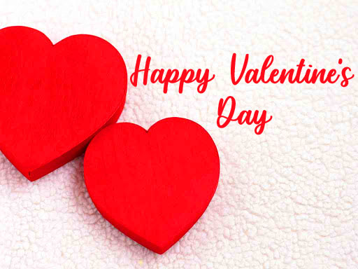 Full HD Red Hearts Happy Valentines Day Wishing