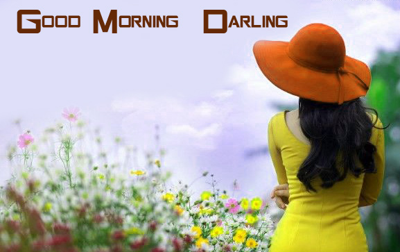 Girl with Good Morning Darling Message