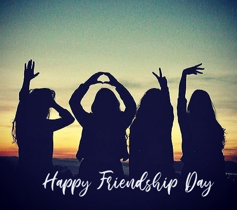 Girls Group with Happy Friendship Day Wish