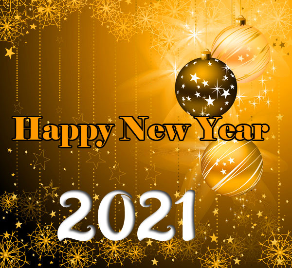 Golden Happy New Year Image