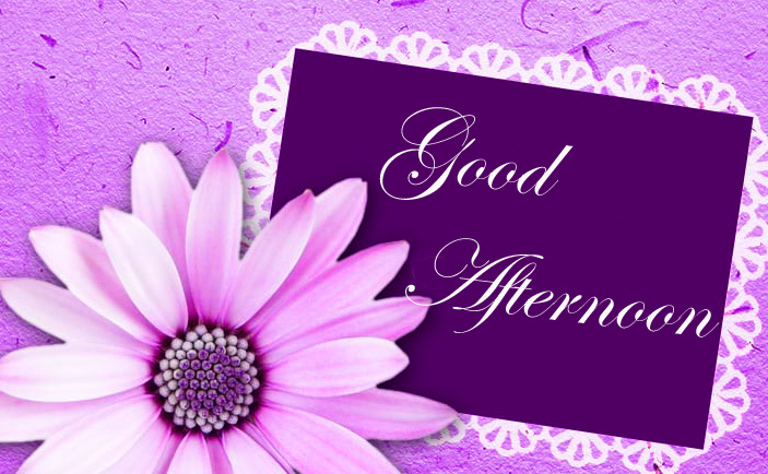 Good Afternoon Card with Purple Flower