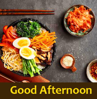 Good Afternoon Wish with Best Lunch