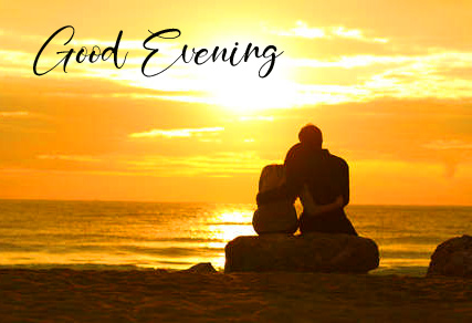 Good Evening with Couple in Sunset