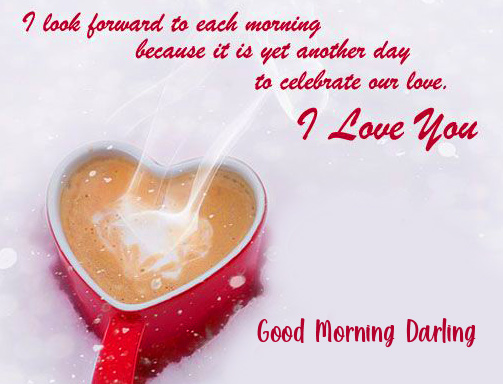 Good Morning Darling Coffee Quotes Image