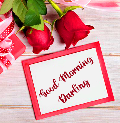 Good Morning Darling Frame with Roses
