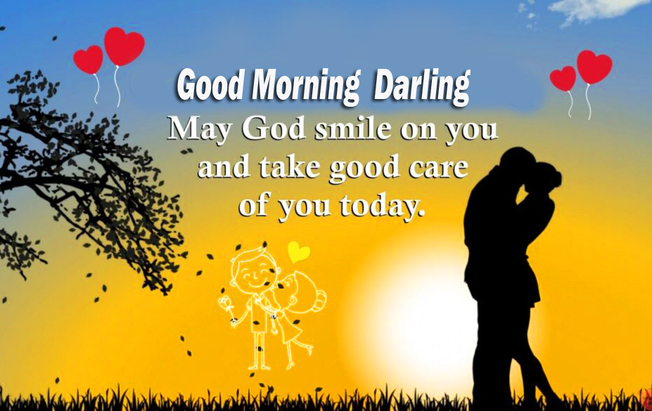 Good Morning Darling Quotes with Couple