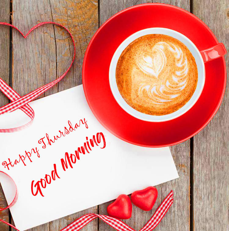 Good Morning Happy Thursday Card with Coffee