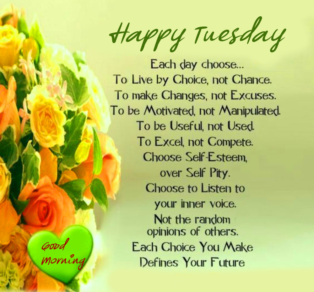 Good Morning Happy Tuesday Blessing Image