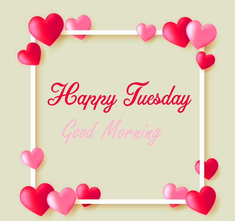 Good Morning Happy Tuesday with Hearts