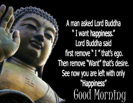 Good Morning Image with Buddha Quotes