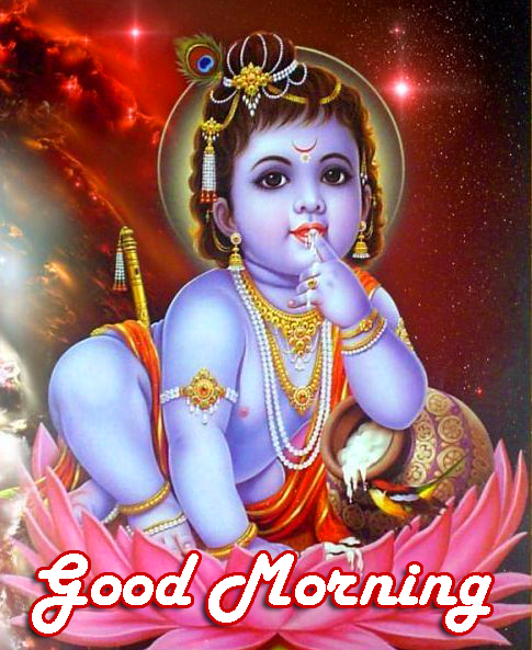 Good Morning Krishna HD Photo