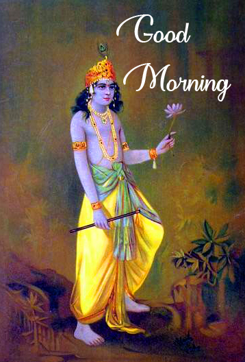Good Morning Krishna Image HD
