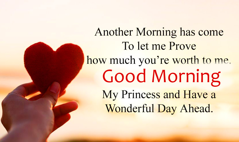 Good Morning Message with Heart Pic