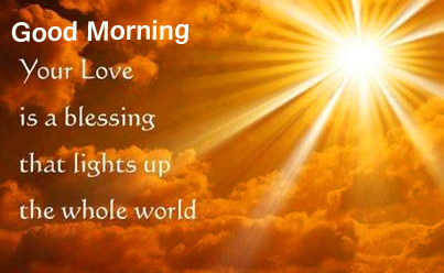 Good Morning Photo with Blessful Quote