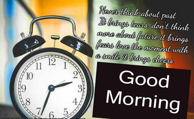 Good Morning Quote with Clock