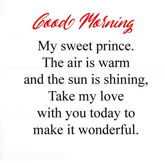 Good Morning Wish for Sweet Prince