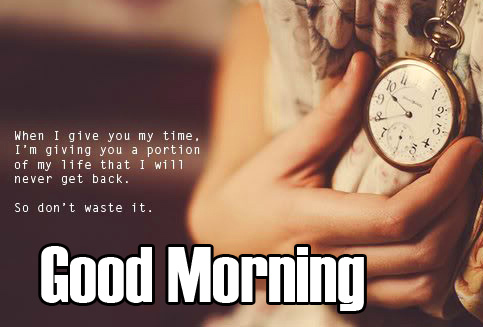 Good Morning Wish with Clock Quotes