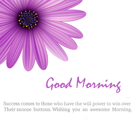 Good Morning Wish with Successful Quotes