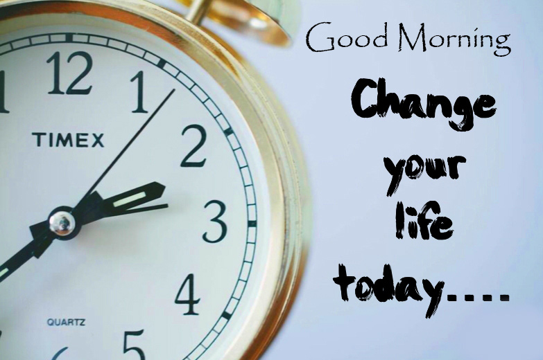 Good Morning Wishing with Clock Message