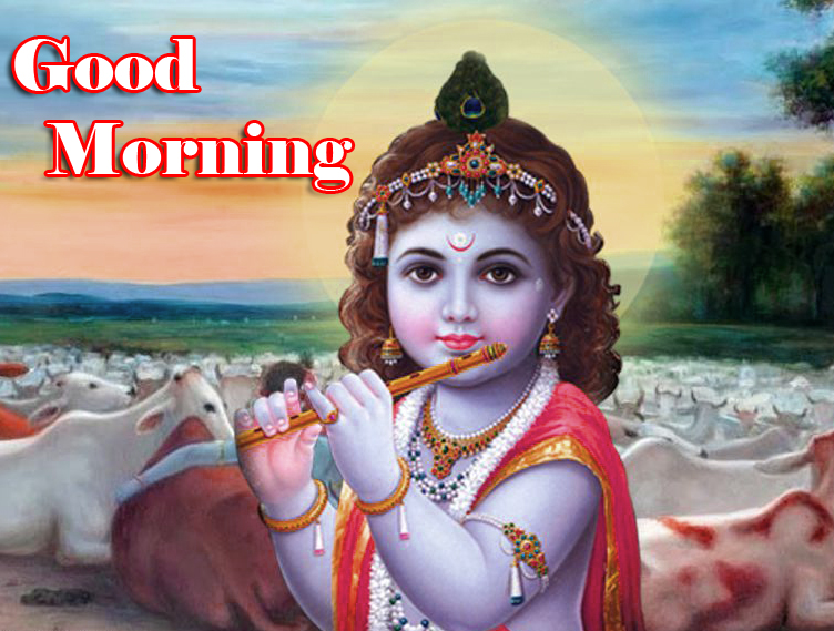 Good Morning with Adorable Krishna