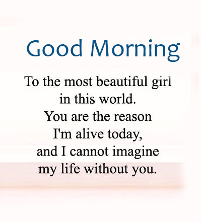 Good Morning with Beautiful Girl Message