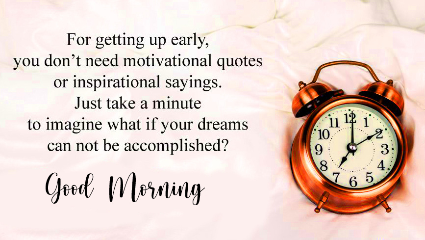Good Morning with Best Clock Quotes