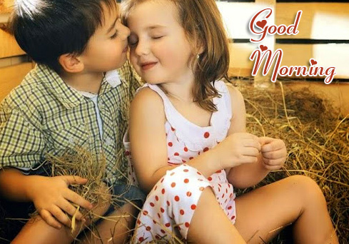 Good Morning with Best Lovely Kids Couple Pic