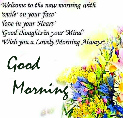 Good Morning with Blessing Thought
