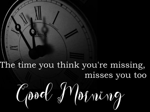 Good Morning with Clock Quote