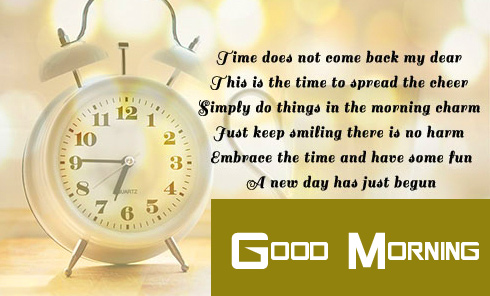 Good Morning with Clock Quotes Pic