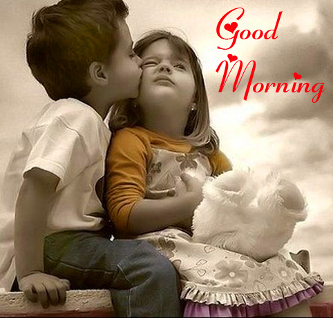 Good Morning with Cute Kids Couple PhoTo
