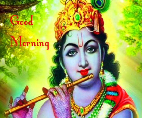 Good Morning with Cute Krishna