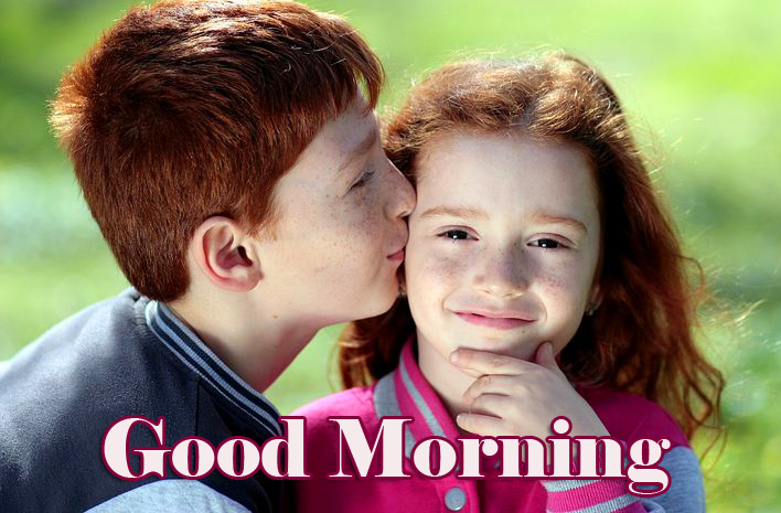Good Morning with Kids Couple Image