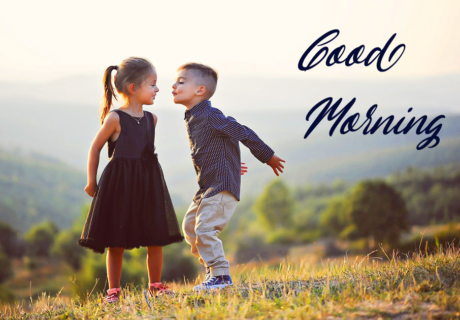 Good Morning with Kids Couple Pic HD