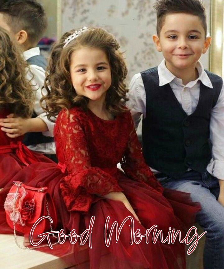 Good Morning with Kids Couple Pic