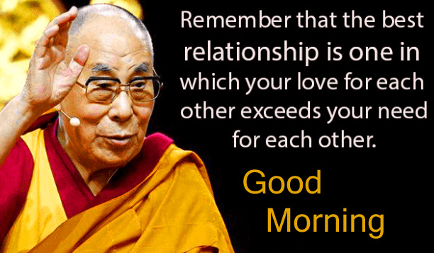 Good Morning with Lama Quotes