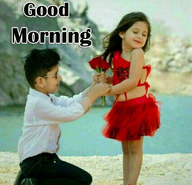Good Morning with Latest Kids Couple Pic