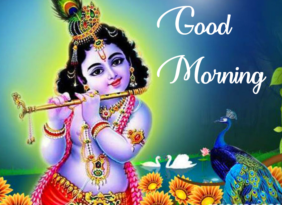 Good Morning with Shri Krishna Image