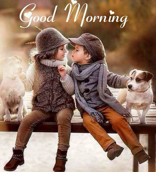 Good Morning with Sweet Couple HD Kids