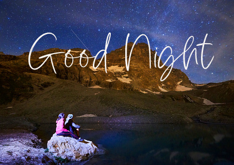 Good Night Message with Couple