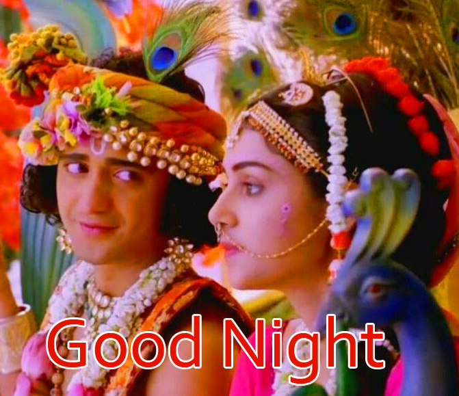 Good Night Radha Krishna Wallpaper