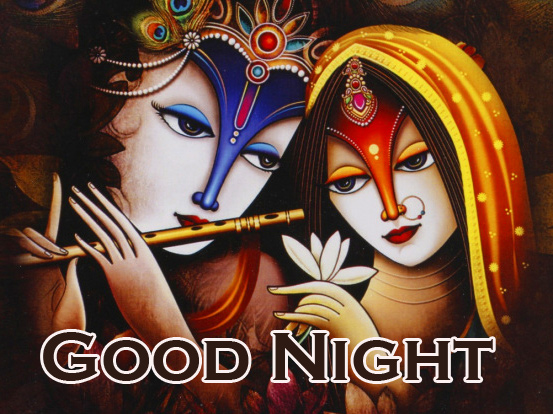 Good Night Radha and Krishna Pic