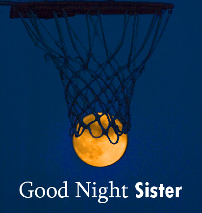 Good Night Sister with Moon Picture