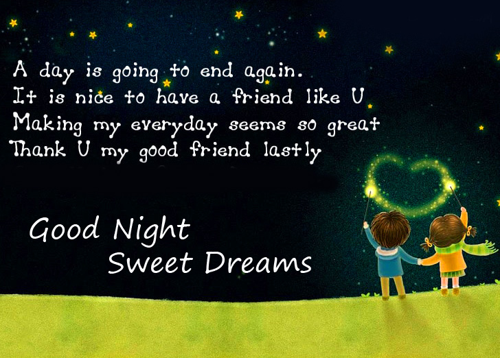 Good Night Sweet Dreams Wishing Quotes Cute Wallpaper